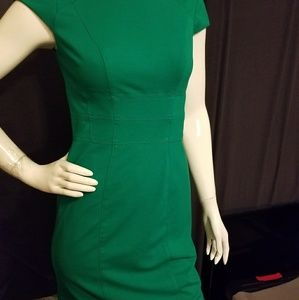White House Black Market Green Dress
